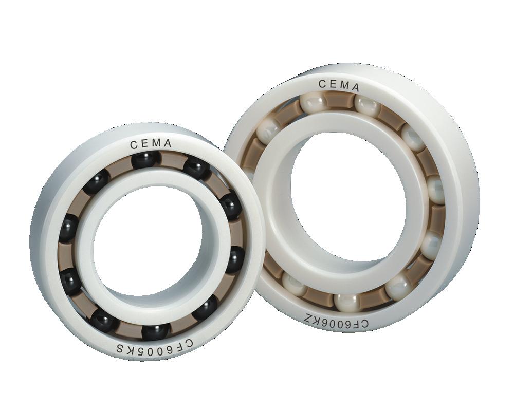 进口CF系列氧化锆陶瓷轴承,PEEK树脂,氮化矽球