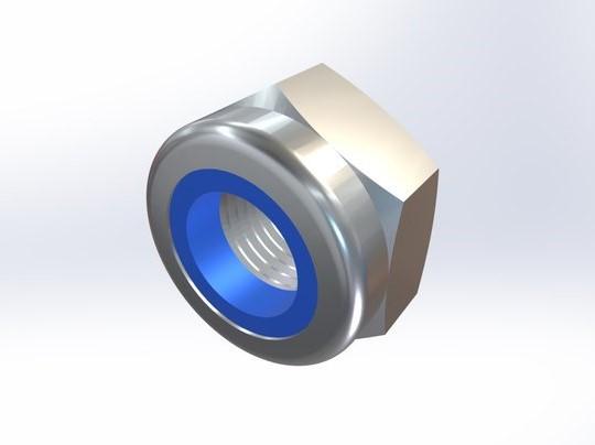 尼龙嵌入螺母高型DIN 982 304/316不锈钢 M4-M24可选