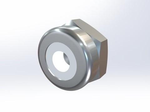 303不锈钢 尼龙嵌入螺母薄型ASME B18.6.6,316不锈钢可选