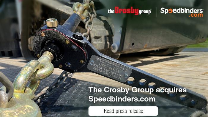 Crosby集团收购负载固定供应商Speedbinders