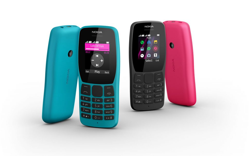 诺基亚110 4G功能手机与高清语音通话在印度推出